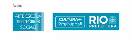 Logo Arte Escola e SMC cor exemplo de aplicação