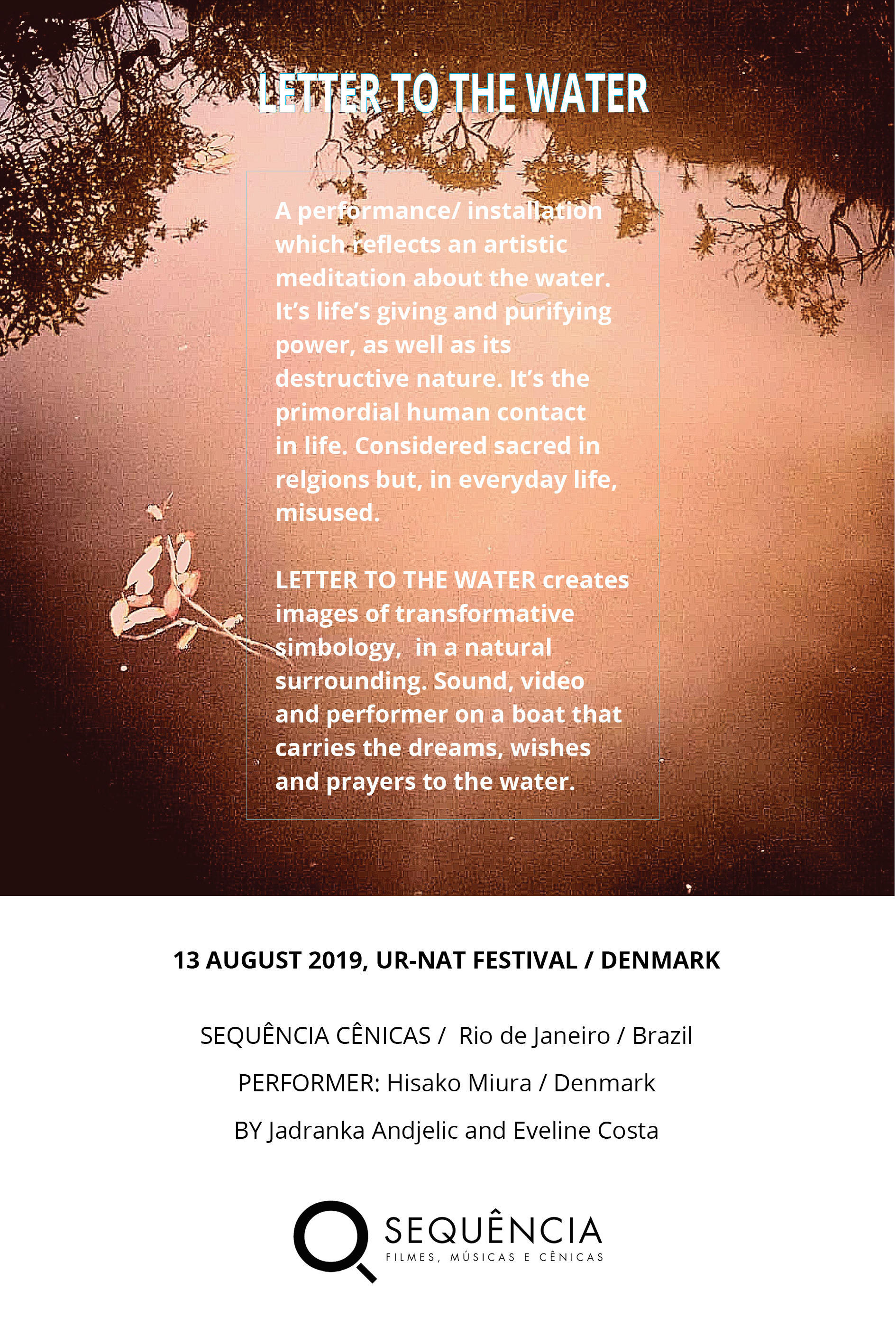 letter to the water cartaz2